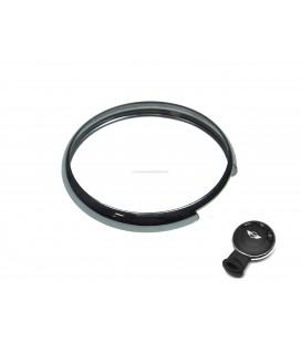 anello cromato argento per telecomando mini