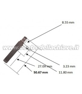 lama chiave per telecomandi fiat/lancia/abarth/alfa romeo 50.67 MM