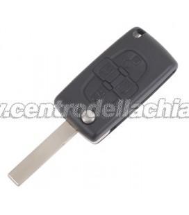 chiave/telecomando 4 tasti Peugeot 807 - 6490Z4/5 - 6554Z5