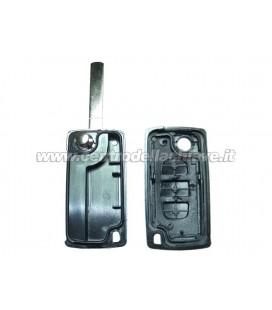 guscio 3 tasti chiave flip Citroen/Peugeot - VA2 - batteria sulla scheda elettronica