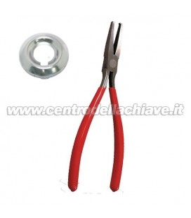 pinza per rimozione calotte serrature