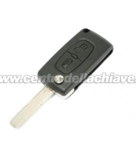 chiave/telecomando 2 tasti Peugeot 207/307/308 - 6490EE - 6490EF - 649034