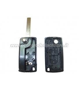 guscio 2 tasti chiave flip Citroen/Peugeot - VA2 - batteria sul guscio