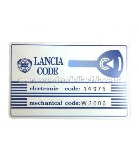 CODICE PIN LANCIA