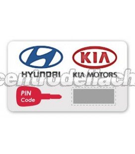 CODICE PIN KIA/HYUNDAI