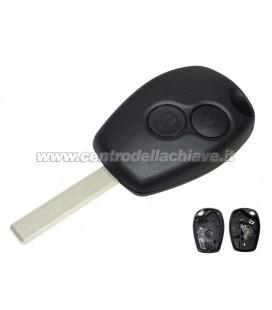 guscio telecomando 2 tasti per Renault/Dacia (lama non inclusa/per lama originale)