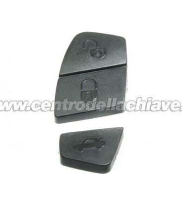 gommina nera 3 tasti (13 mm) per telecomando fiat/peugeot